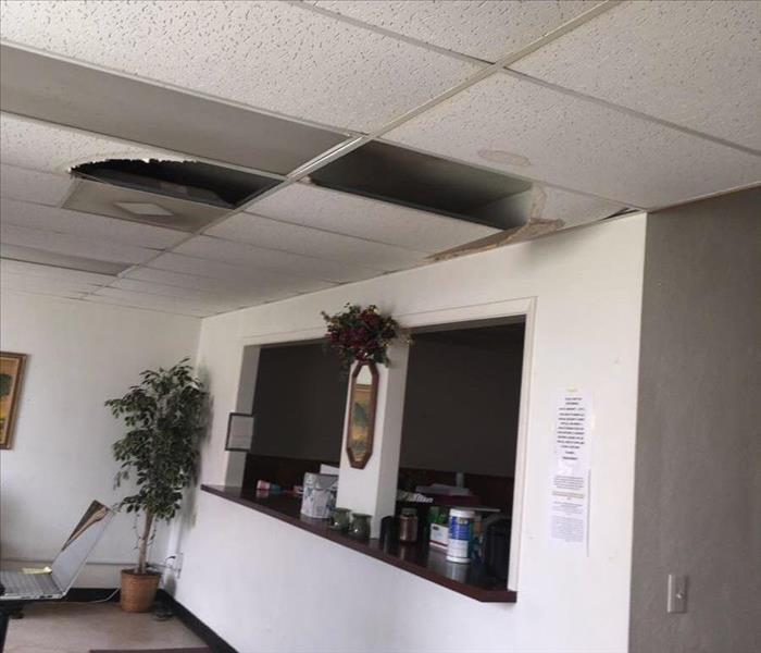 Damage from Roof Leak in Tabor City, NC Before