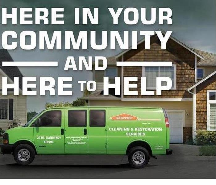 Digital SERVPRO van in front of home with lettering