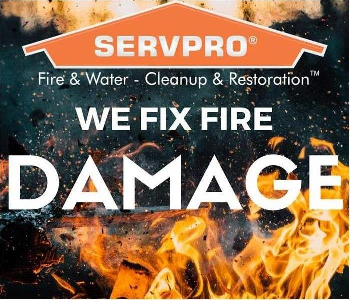 SERVPRO logo with fire