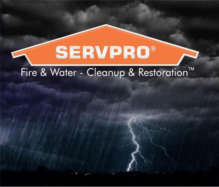 Image of storm with SERVPRO logo